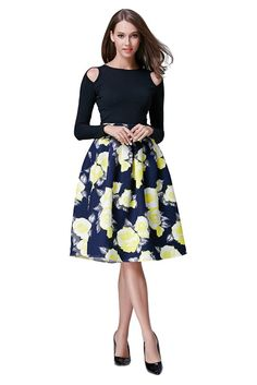HIKA Women's Retro High Elastic Waist Flare Pleated A-line Midi Skirt plus size high waisted skirt! Calvin Klein Lingerie, Full Midi Skirt, Beach Shirts, Jeans Rock, All Fashion, Maxi Skirts, Flare Skirt, Amazing Women, Street Styles
