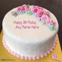 Looking for birthday cakes? Here is the awesome collection of birthday cakes and more importantly there is an option to write name. Happy Birthday Sister Cake, Happy Birthday Cake Writing, Happy Birthday Amanda, Birthday Cake Write Name, Happy Birthday Cake Pictures, Birthday Wishes Cake, Cake Name, Beautiful Birthday Cakes, Birthday Cake With Picture