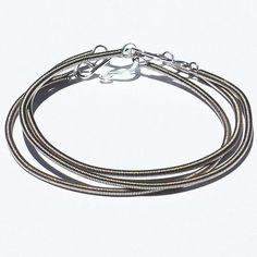 Guitar String Bracelets 3 Upcycled Bass String Bracelets by Tanith
