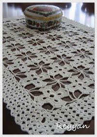 Crochet Tablecloth Pattern, Crochet Lace Edging, Crochet Squares, Crochet Doilies, Bead Crafts, Diy Crafts, Crochet Table Runner, Crochet Projects, Projects To Try
