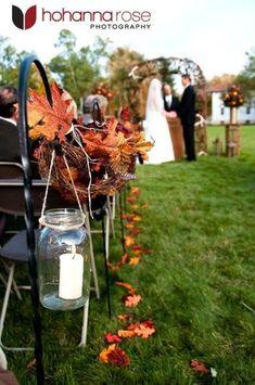 fall wedding alter - Google Search