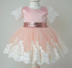 e5f744a831 3-6 Months Girls Infant Dress for Baby Girls Dress Pink Sequined Tutu Dress  Formal