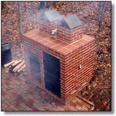 Backyard barbecue pit and smoker, plans, materials, construction log //ibiblio.org/lineback
