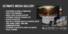 Buy Ultimate Media Gallery by Tean on CodeCanyon. Ultimate Media Gallery is a responsive and highly customizable jQuery gallery plugin. It can display video, image an. Library Icon, Web Design Tutorials, Website Template, Video Image, Coding, Gallery, Scripts, Multimedia, Ecommerce