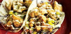 Move over, fish and steak. Crunchy pan-seared cauliflower may become your new favourite taco stuffing—especially when adorned with a sweet mango salsa and chipotle-laced sauce.