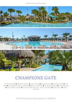 Champions Gate is a billion dollar community, an approximately 900-acre master planned community located in the southwest Osceola County, Florida. | Villa for rent in Orlando