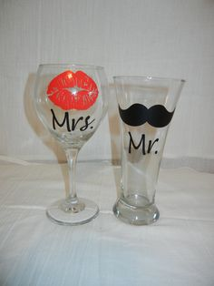 Mr. wine and beer glass