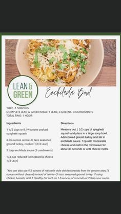 Lean Protein Meals, Healthy Low Calorie Meals, Lean Meals, Healthy Eating, Healthy Living Recipes, Clean Eating Recipes, Vegetarian Recipes, Weight Watchers Meal Plans, Diet Meal Plans