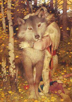 Gennady Spirin - Ivan Tsarevich and the Grey Wolf - Russian fairy tale