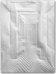 Simon Schubert - Amazing Work through folded paper