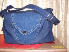Two of my recycled denim bags - PURSES, BAGS, WALLETS