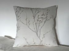 """Laura Ashley Pussy Willow Dove grey Fabric 16"""" Cushion Cover"""