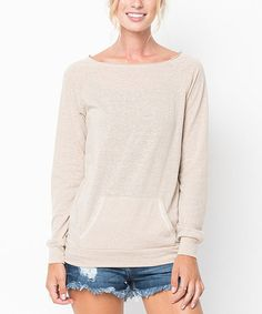 Another great find on #zulily! Taupe Boatneck Pullover Sweater #zulilyfinds