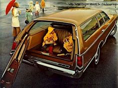 ... sitting backwards in a station wagon and no seat belts.