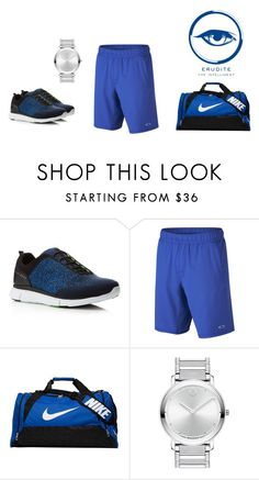 """""""Erudite Gym"""" by hiltzerin-1 on Polyvore featuring HUGO, Oakley, NIKE, Movado, men's fashion and menswear"""