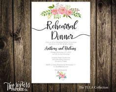 Printable Rehearsal Dinner Invitation  Floral Rehearsal