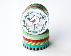 Pick your own set of washi tape! You may choose:  1 roll - 2.25 3 rolls - 6.49 5 rolls - 9.99 10 rolls - 18.99 20 rolls - 35.99  You choose the prints that you want. Include the numbers of the designs you want in your notes with your order.  15mm x 10m (about 0.59 in x 10.93 yards) each Made in China  >>> - - - - - COMBINED SHIPPING - - - - - <<< I offer discounted shipping for multiple-item purchases. Add the items to your cart to see the total shipping for multiple items. ...
