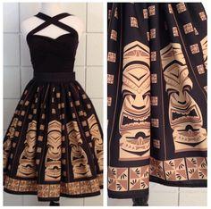 Palm Springs Swing Collection ~ Sneaky Tiki Circle Skirt