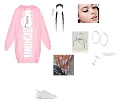 """""""Bev hills CA 1/18"""" by jazzy1bieber ❤ liked on Polyvore featuring Moschino, NIKE, Maybelline, Lydell NYC, Topshop, Jessica Robinson, Louis Vuitton, women's clothing, women's fashion and women"""