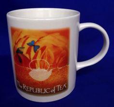 The-Republic-Of-Tea-Coffee-Mug-With-Lid-Cover-Coffee-Mug-Orange-Blue-Red-Brown
