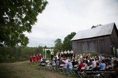 farm barn wedding northern michigan photo
