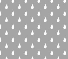 raindrop gray fabric by alihenrie on Spoonflower - custom fabric