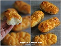 Recipes} Assorted Handmade Bread Using Tangzhong Method Cheese Buns, Cheese Bread, 5 Recipe, Singapore Food, Hot Dog Buns, Bread Recipes, Breads, Sandwiches, Rolls