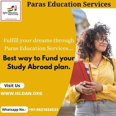 Paras Education Services – the leading study abroad financial consultant with 20+ years of expertise has assisted 10,000+ students with financing options to fulfill their dream to study in college of their choice globally. www.isloan.org Study Abroad, Dreaming Of You, Finance, How To Plan, Education, Finance Books, Teaching, Economics, Onderwijs