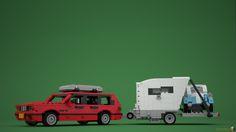 https://flic.kr/p/KoPskr   LEGO® BMW 3 Series E30 Touring with Caravan & Isetta   MOC by Loek @ www.mecabricks.com/en/models/Z79a8Vl6j8w