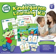 LeapFrog Kindergarten Set (DDT84):   The Complete Leapfrog Kindergarten Learning Kit provides multiple tools to reinforce key skills children need to succeed in preschool and kindergarten. The kit includes flash cards, workbooks, dry erase activity books, a dry erase lapboard, and one washable dry erase marker for endless practice of math, printing, reading and language building. This learning kit is portable and designed with national and state curriculum standards in mind.