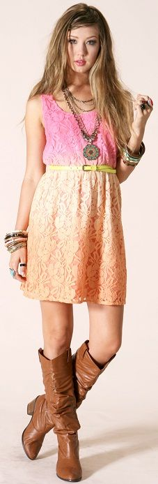 Ombre Dyed Lace Dress!!