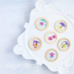 簡単可愛いエディブルフラワーのステンドグラスクッキー by tiny | cotta