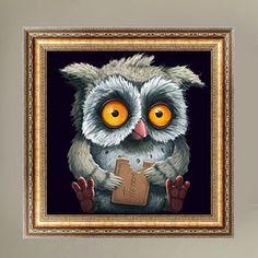 1PC Owl DIY 5D Diamond Painting Animal Cross Stitch Decor Diamond Embroidery Broderie Diamant Painting Rhinestones