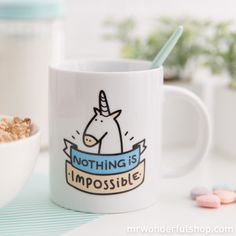 """È un amore! Tazza """"Nothing is impossible"""" (ENG)"""
