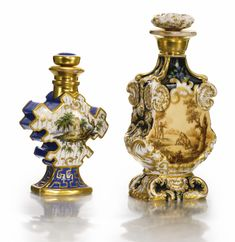 Two Porcelain Scent Bottles, Popov Manufactory, Gorbunovo, mid 19th century | Lot | Sotheby's