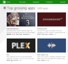 Delighted to announce, that our recently released Essential Anatomy 3 is currently the number 1 Top Grossing App on the Windows Store. This is especially exiting as we are ahead of such giants as Photoshop and WnZip. Thank you to all of our customers for your support - http://applications.3d4medical.com/essential_anatomy_3/ #health #mhealth