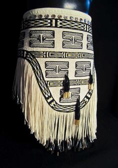 """LIghtning Dance Apron,"" a Ravenstail weaving by Kay Field Parker.  Photo by Kay Field Parker"