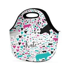Abstract Personalized Livestock Lunch Bag ,  - Stock Show Boutique, Stock Show Boutique - 1