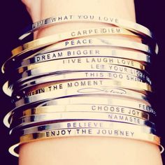 mantra bands. LOVE LOVE... what a great birthday present idea ;) #mantrabands