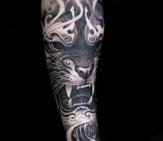 Black Tiger tattoo by Victor Portugal