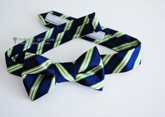 this shows how to make a bow tie from  neck tie but I think it would work for a large bow clip for teen girls hair or clothing?! I will have to give it a try.
