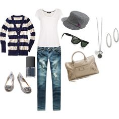 A fashion look from August 2011 featuring blue cardigan, short sleeve t shirt and super skinny jeans. Browse and shop related looks. Fall Outfits, Cute Outfits, Fashion Outfits, Womens Fashion, Jean Outfits, Ladies Fashion, Bowling Outfit, The Cardigans, Swagg