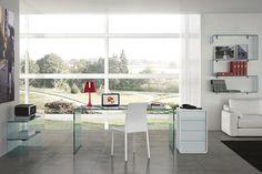 escritorio de despacho moderno de vidrio para uso profesional RIALTO SCRIVANIA FIAM ITALIA