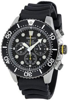 Seiko Men's SSC021 Solar Diver Chronograph Watch Seiko.