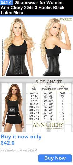 Women Shapewear: Shapewear For Women: Ann Chery 2045 3 Hooks Black Latex Metallic Edition BUY IT NOW ONLY: $42.0