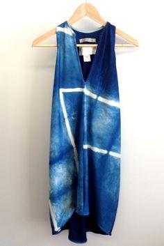 Cinched Journey Dress, Folded Indigo Dye 285.00
