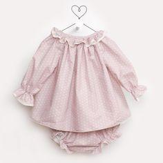 Casilda y Jimena   Conjunto baby estrellas rosa empolvado valencien