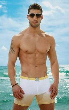 Sexy guy in the Beach..