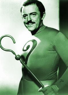The Riddler (John Astin) . Astin briefly took over the role of the Riddler in TV's Batman after Frank Gorshin, having been denied a pay raise, left the show. Batman Cast, Batman Tv Show, Batman Tv Series, Batman 1966, Im Batman, Batman Robin, Real Batman, Dc Comic Books, Comic Book Characters