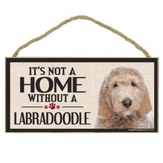 Imagine This Wood Sign for Labradoodle Dog Breeds => You will love this! More info here : Dog Memorials
